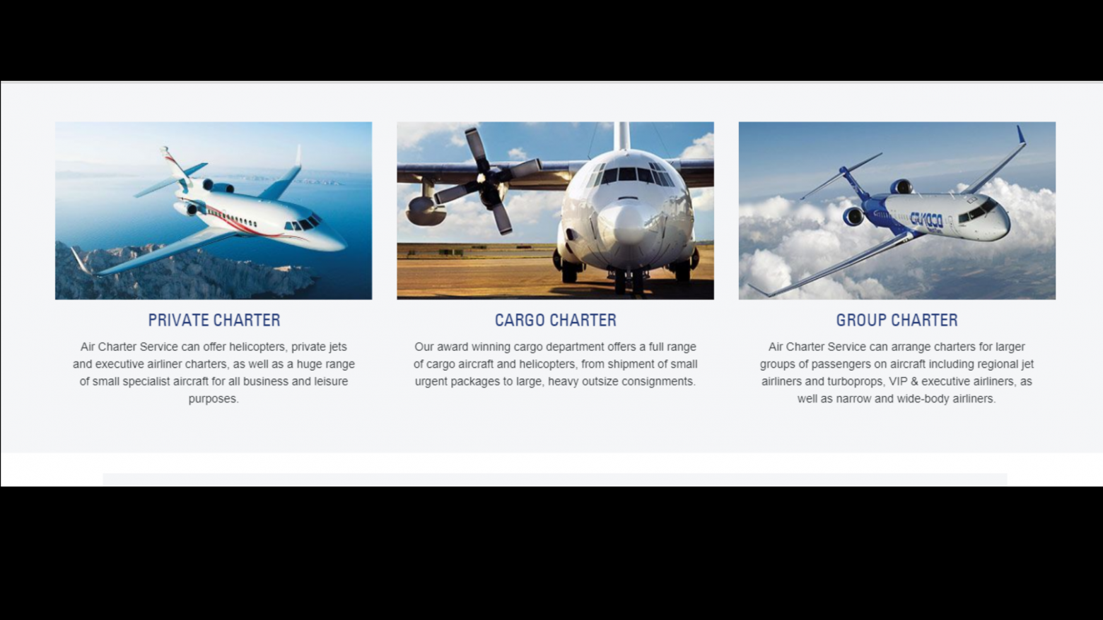 Air Charter Services Website