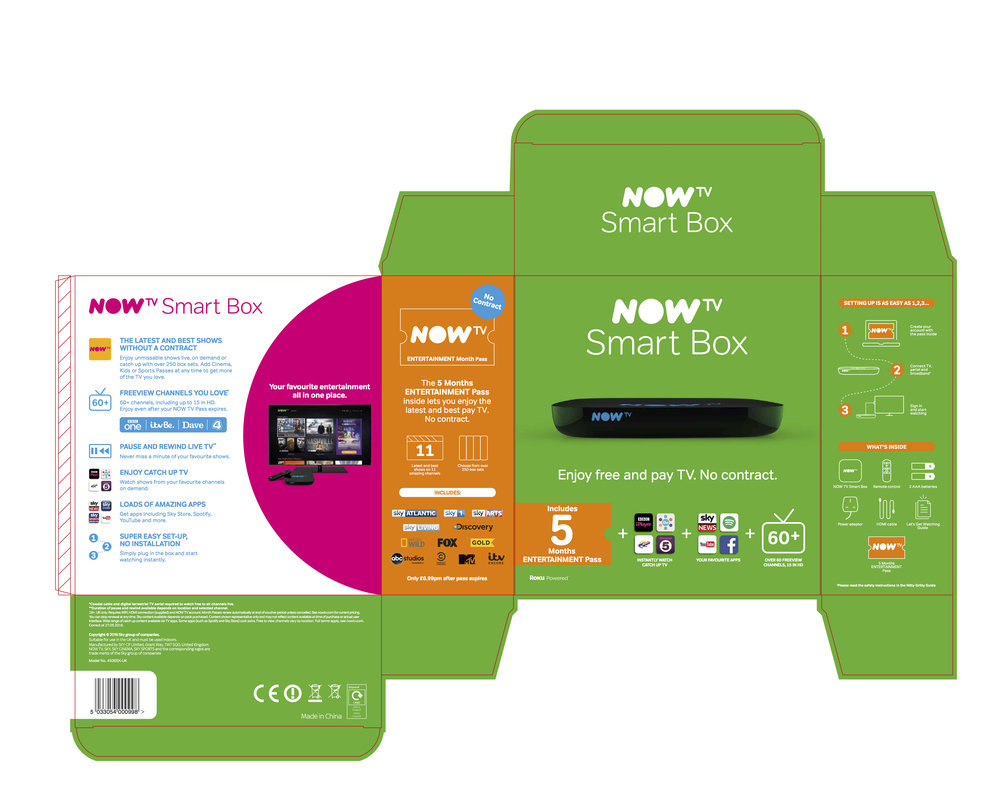 NOW TV Packaging